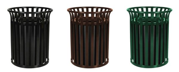 Streetscape Classic Outdoor Trash Receptacle