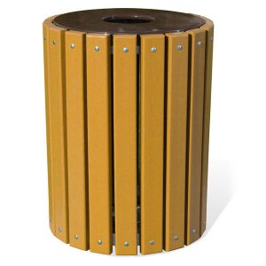 32 Gallon Slat Trash Receptacle